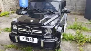 Mercedes Benz G63 AMG Kids Ride On Car Review!