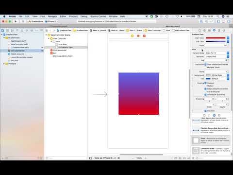 Creating an IBDesignable Gradient View in Swift 4 - App Code