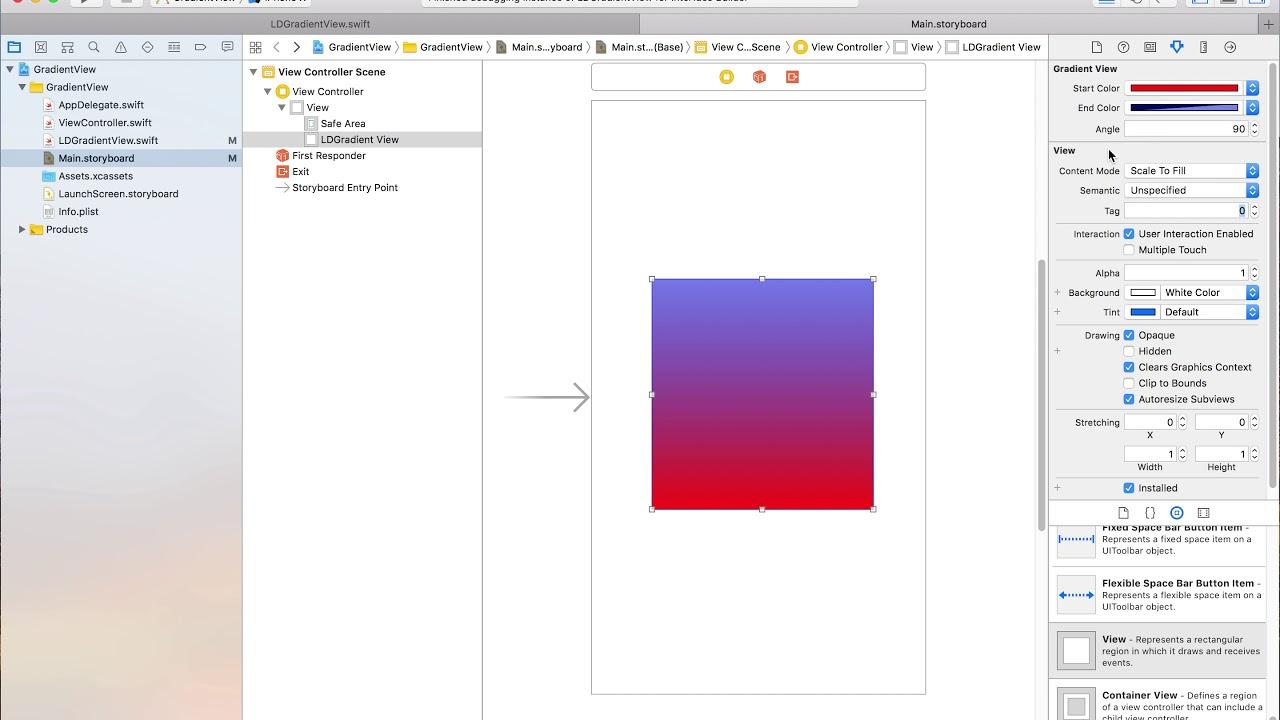 Creating an IBDesignable Gradient View in Swift 4 - App Code Labs