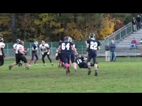 14 Year old Linebacker #10 Michael in on a defensive final stop for victory