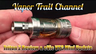 Aspire Triton 2 (Clapton Coils) & eVic VTC Mini Firmware Update 2.0(A few things we're looking at today...the new Aspire Triton 2 tank that's using Clapton Coils now, some Villain Vapors juice, and the firmware update for the eVic ..., 2015-11-05T23:41:43.000Z)