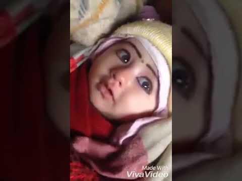 Aankhon Mein Ashu Leke Honthon Se Muskaraye Cute Baby Video