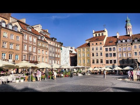 Best Sightseeing of Warsaw, Poland. Old Town Tour