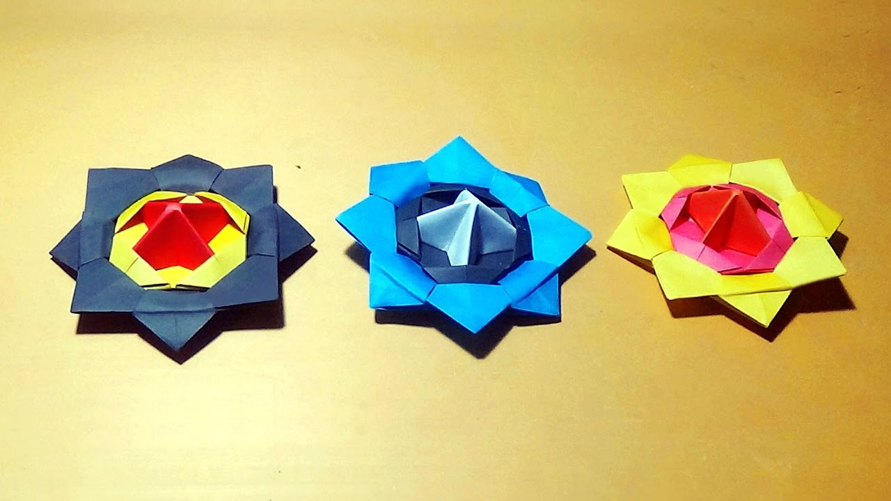 Spinning top how to make an origami spinning top youtube jeuxipadfo Images
