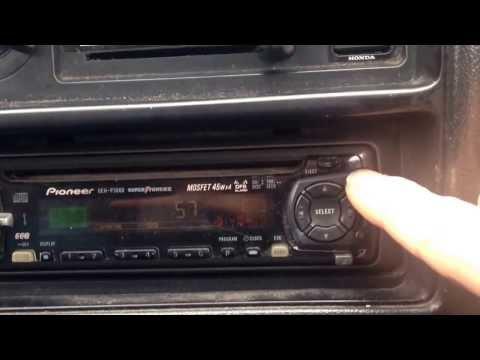 DEH P3000 Set Clock - Pioneer