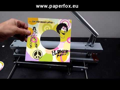 Die cutting gramophone record covers