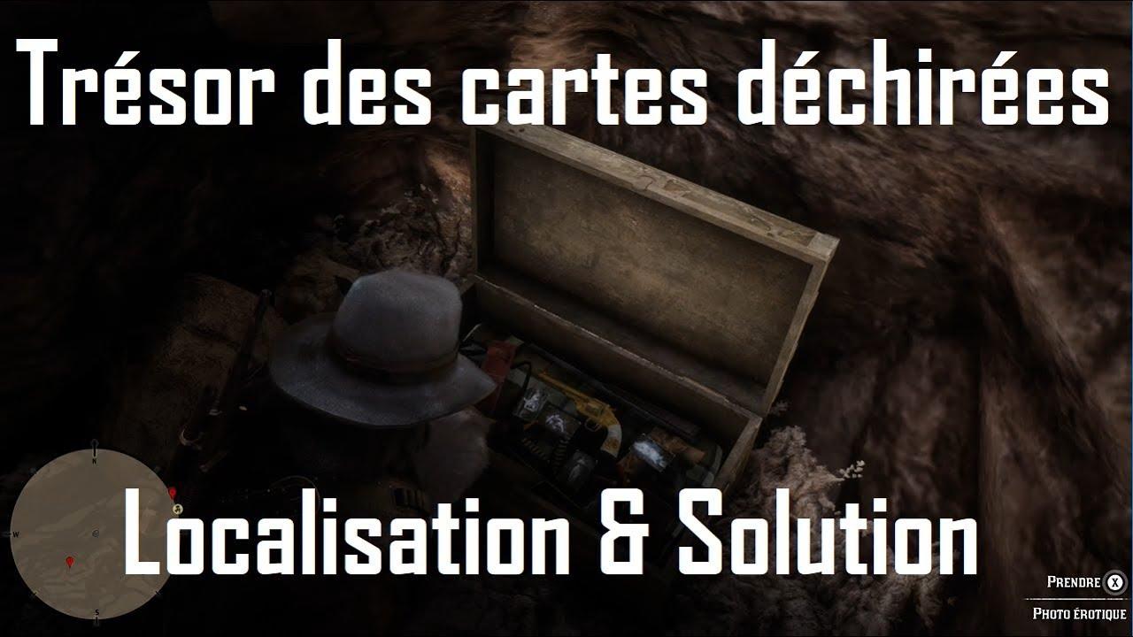 Carte Au Tresor Dechire.Red Dead Redemption 2 Tresor Des Cartes Dechirees Localisation Et Solution