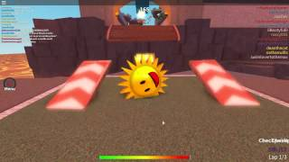 Roblox - Super blocky ball - Blazing mountain