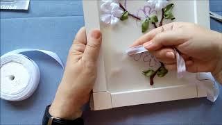 Мастер-класс. Вышивка ветки сакуры. Часть 3. Цветы и бутоны.