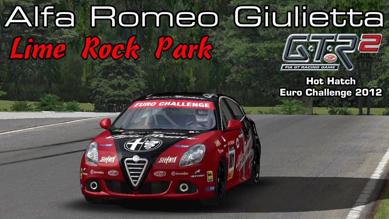 Gtr2 alfa romeo giulietta lime rock park mod hot hatch euro challenge 2012
