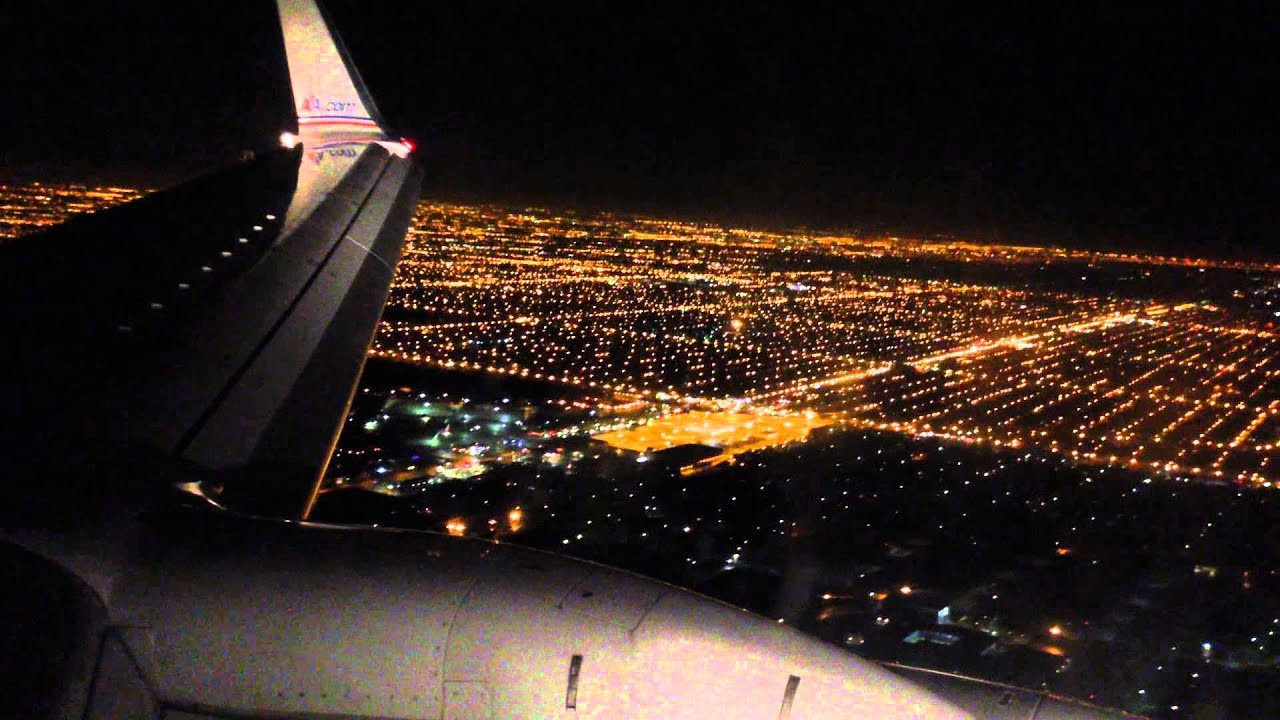 Hd American Airlines Boeing 737 800 Night Landing