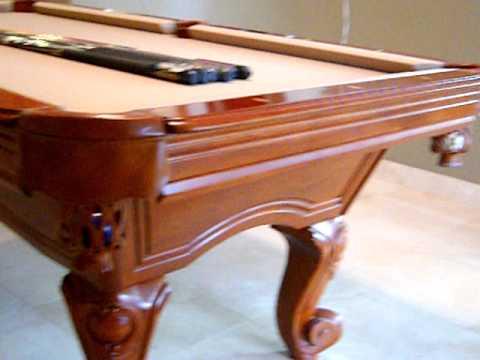 Superieur 7u0027 Pool Table With Tan Felt   YouTube