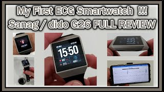 My First Waterproof Heart Rate Monitor ECG + PPG Smartwatch! Sanag dido G26 FULL REVIEW