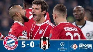 Melhores Momentos - Bayern de Munique 5 x 0 Besiktas - Champions League (20/02/2018)