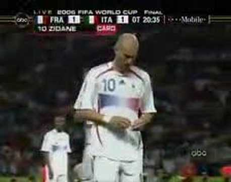 case study zidane s last red card The findings are the result of multiple comprehensive interviews with some of nokia's top and middle managers and other people who were somehow involved with nokia during the study period the paper was published in one of the top business and management journals.
