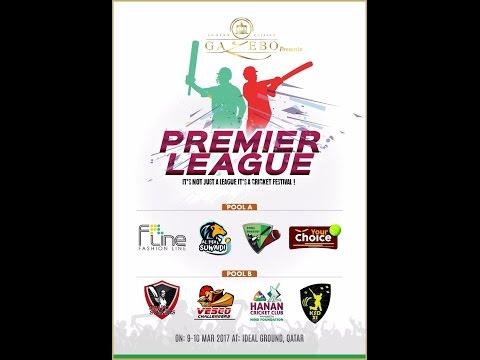 HANAN CRICKET CLUB V/S AL FIFA SUWAIDI | SECOND SEMI FINAL | Gazebo Premier League 2017 | Qatar