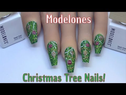 Christmas Tree Nails | Modelones.com | Nail Sugar