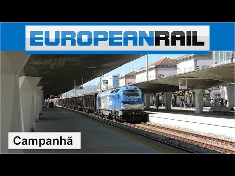 Comsa Rail Vossloh Euro 4000 Series 335 loco + Comboio Madeira arrives at Porto Campanhã
