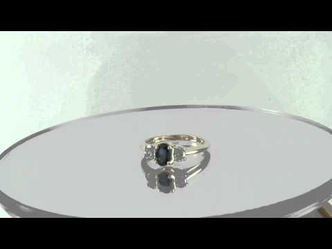 Estate 2.00ct Blue Sapphier & Diamond 14k Yellow Gold Engagement Ring