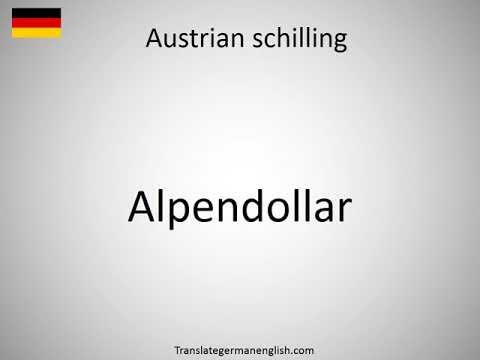 How to say Austrian schilling in German?