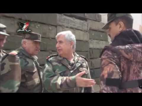 Chief of the General Staff of the Syrian Army inspects al-Mastouma with Colonel Suhail
