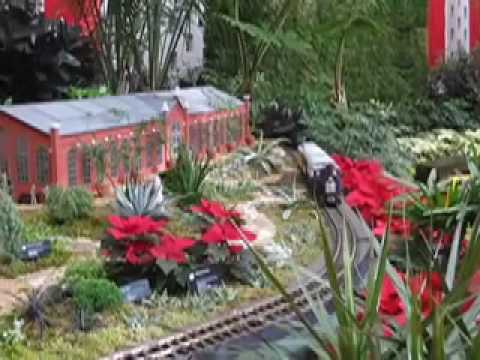 Christmas Train Show Missouri Botanical Garden St Louis Mo Youtube