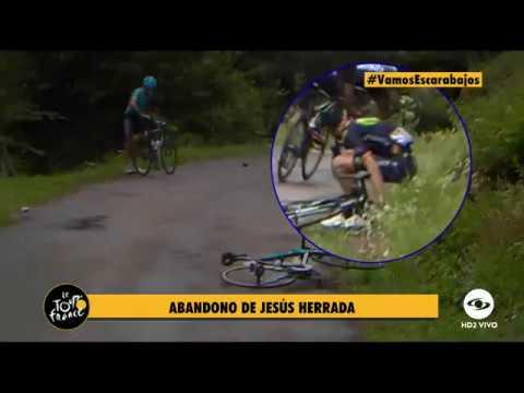 Geraint Thomas and Rafał Majka /  CRASH / Tour de France 2017 stage 9 AG2R BORA MOVISTAR