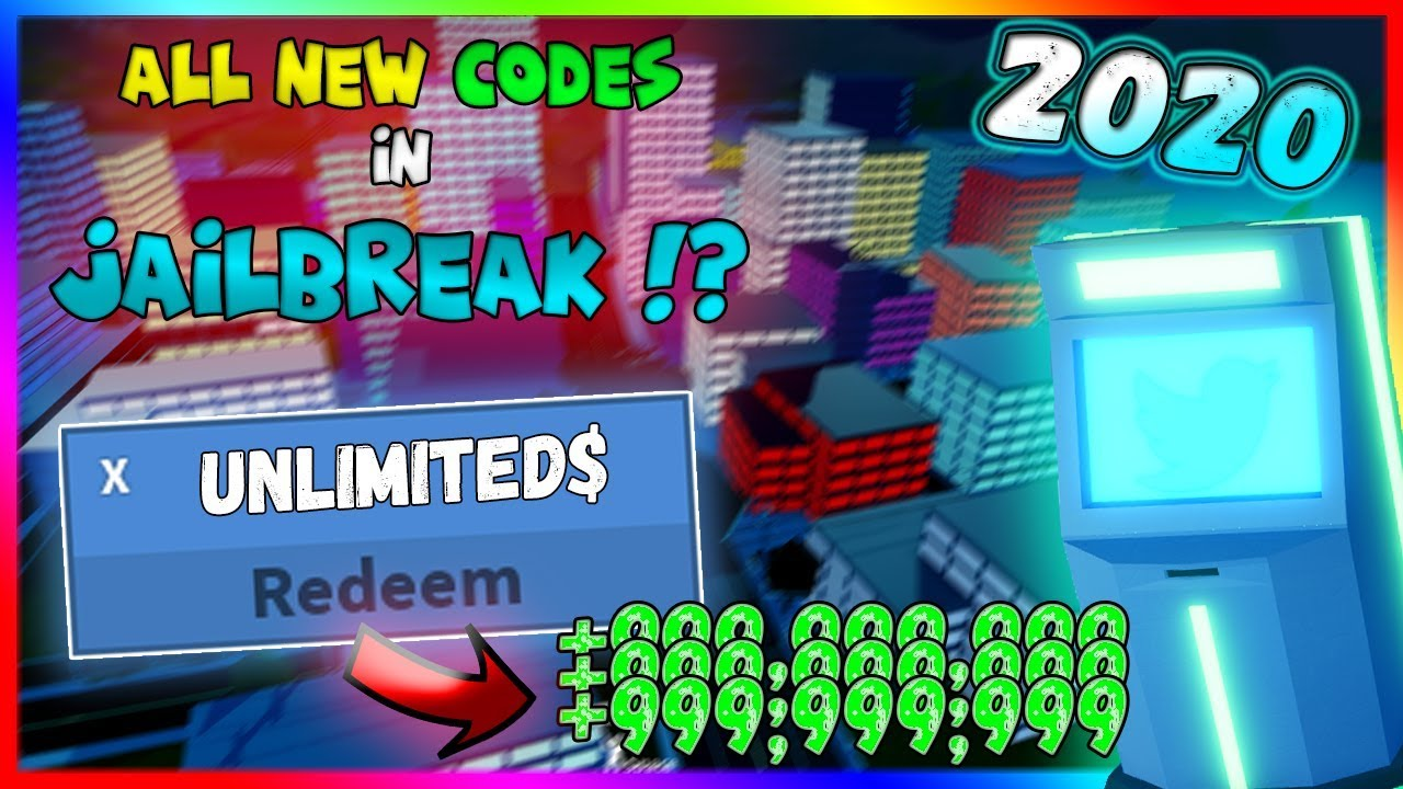 All New Codes In Jailbreak 2020 Roblox Youtube