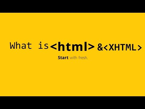 What Is HTML And XHTML