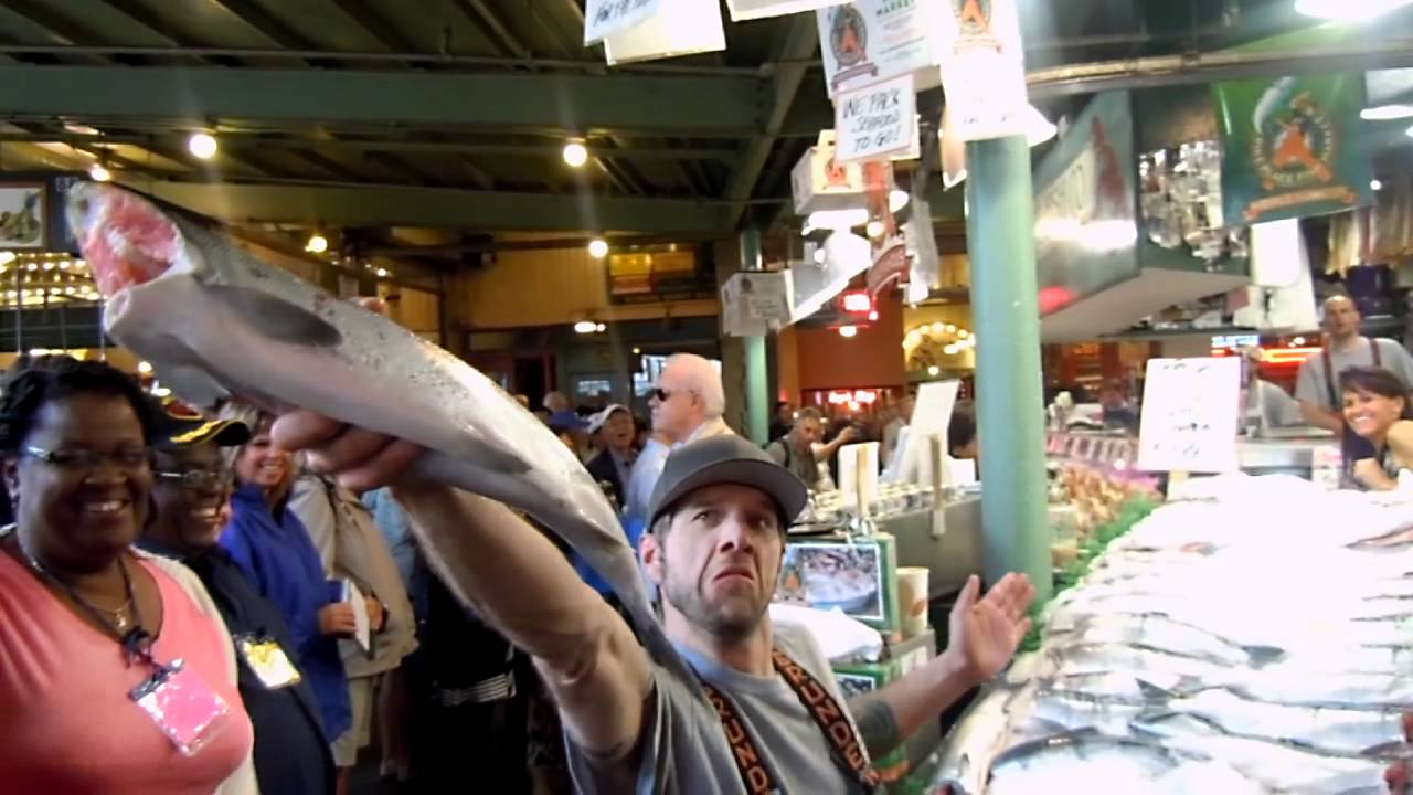 Pike place fish market seattle wa youtube for Pike place fish