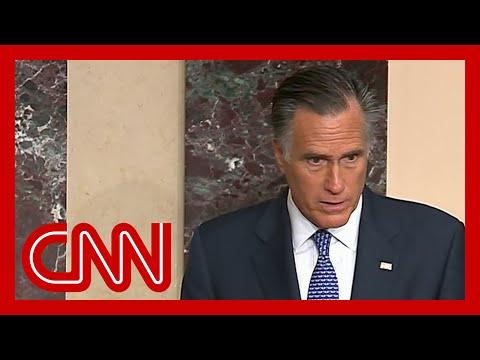 Mitt Romney says he'll vote to convict Trump