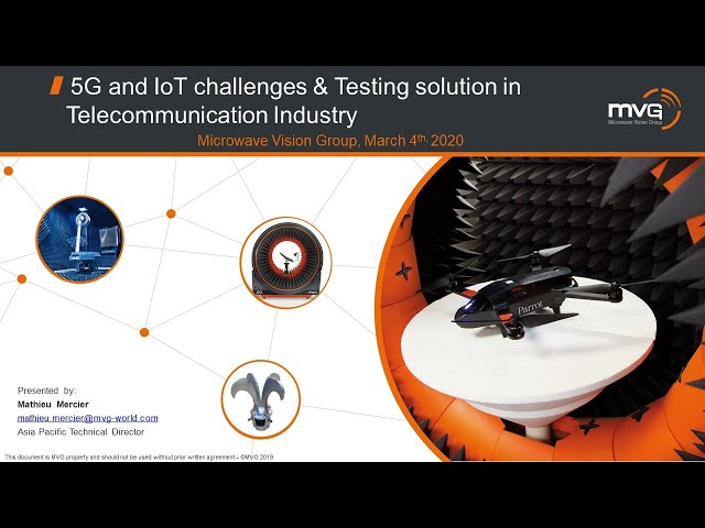 MVG Webinar - 5G and IoT challenges & testing solution in telecommunication Industry