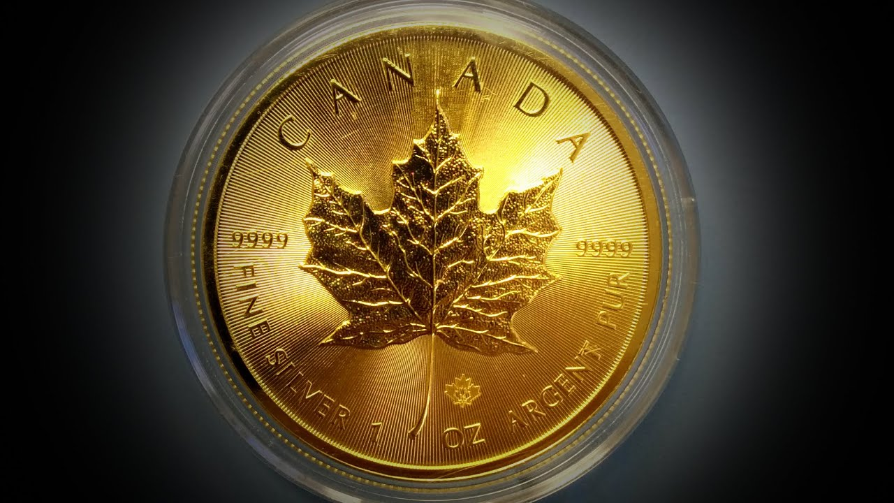 Gold 2014 1 Canada 1 Oz Silver Maple Leaf Plated In