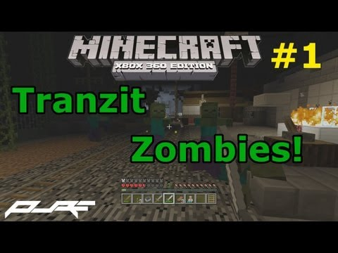 Minecraft Xbox 360: Tranzit Zombies W/ Friends! Part 1 W/ Download!