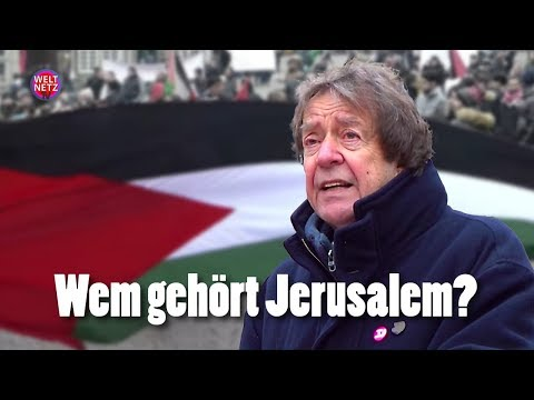 Wem gehört Jerusalem? Kundgebung der Palästinenser gegen den Trump-Beschluss zu Jerusalem