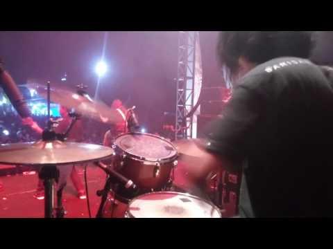Inrain - Barisan Garda Parau Live @ Jakcloth Lebaran, Jakarta (Drum Cam)