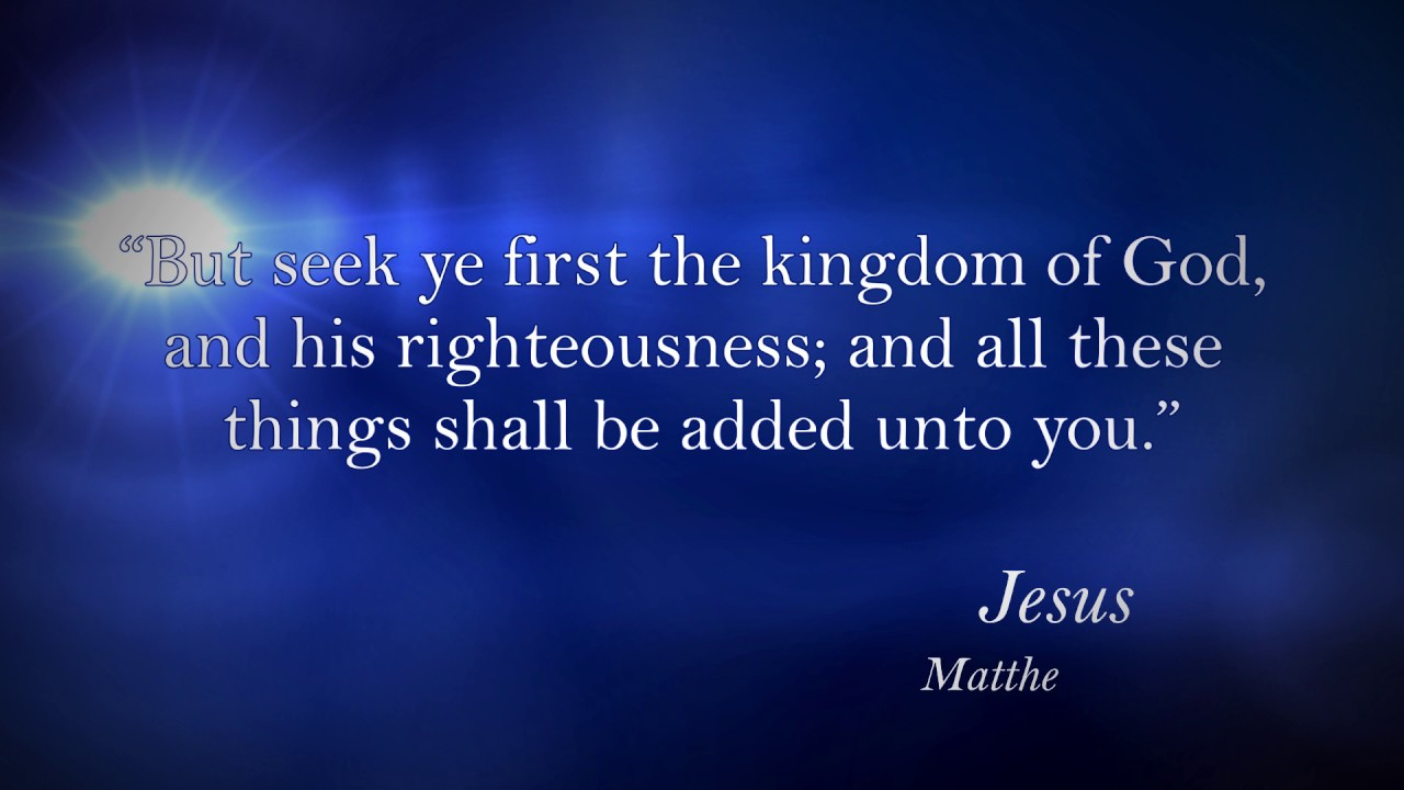 Famous Bible Quotes U0026 Verses: Jesus, Matthew 6:33