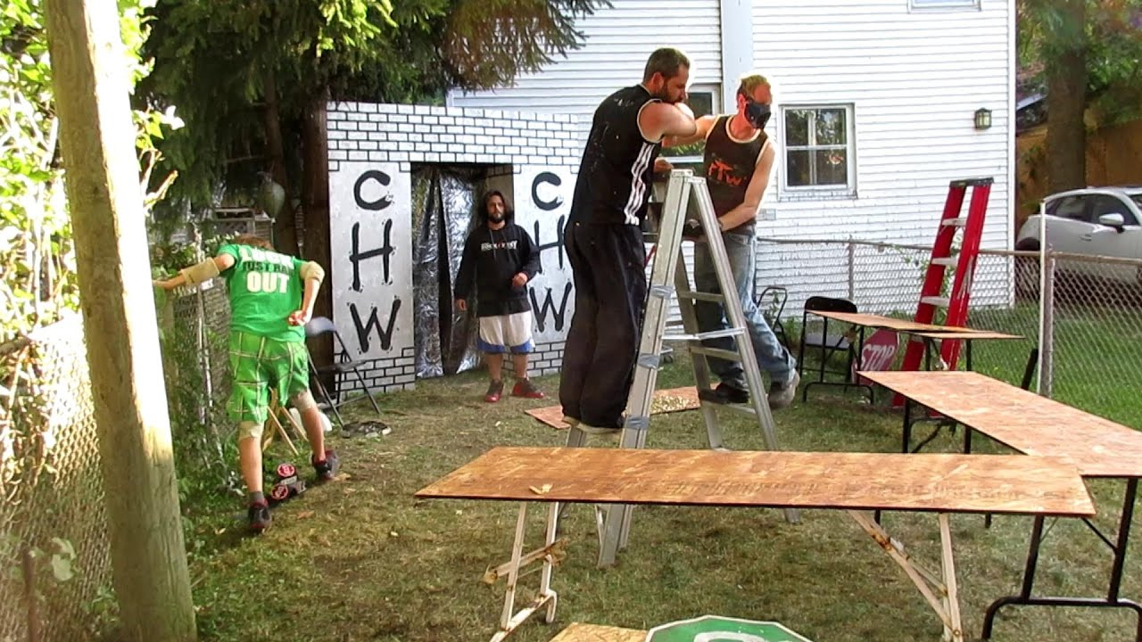 table battle royal last match chw backyard wrestling youtube
