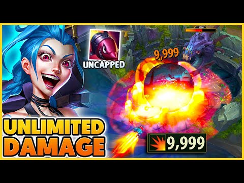 RIOT UNCAPPED The Damage On Jinx Rocket!! (INSANE Baron Damage) - BunnyFuFuu   League of Legends