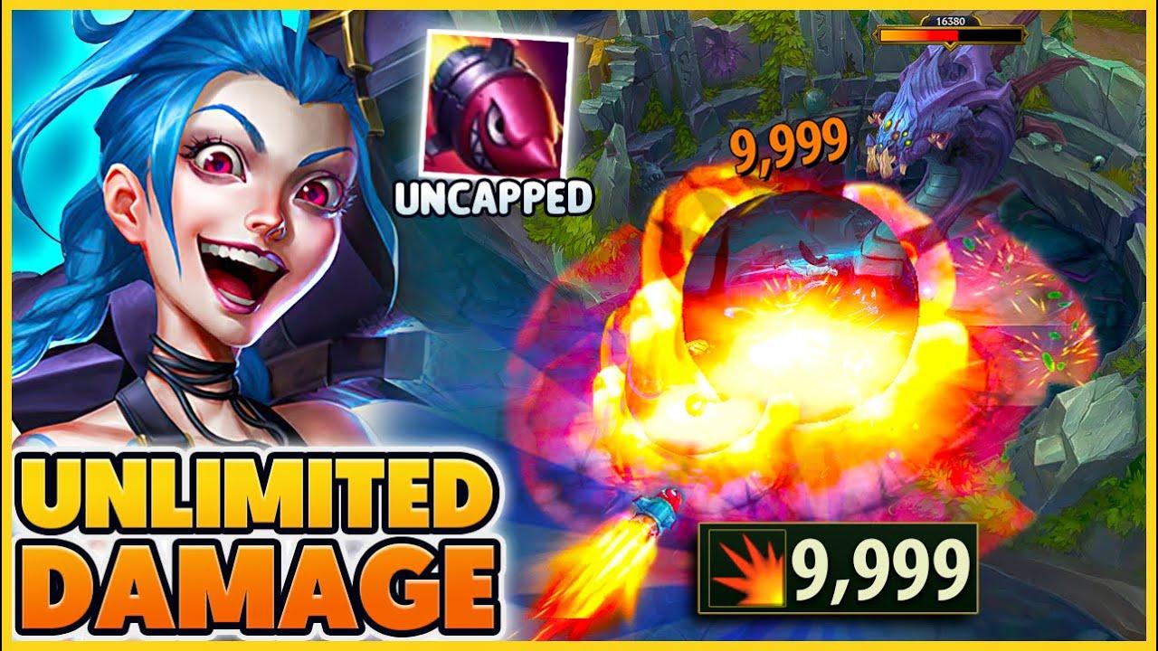 Download RIOT UNCAPPED The Damage On Jinx Rocket!! (INSANE Baron Damage) - BunnyFuFuu | League of Legends