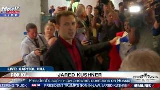 WATCH: Jared Kushner Leaving Capitol Hill After Being Questioned About Russian Probe
