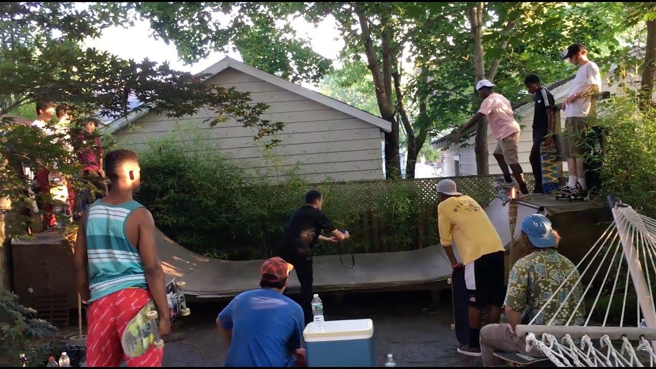 backyard mini ramp party youtube