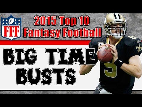 Preseason Top 10 Fantasy Busts || 2015 Fantasy Football