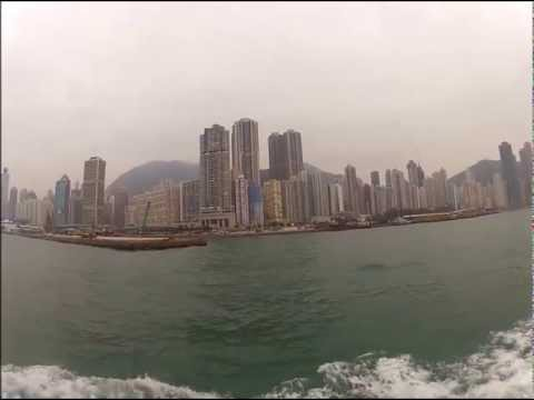 Hongkong skyline seen from waterside - GoPro Hero2