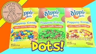 dippin' dots Popping Candy Mint Chocolate - Banana Split - Rainbow Ice