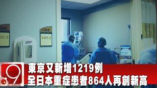 東京又新增1219例 全日本重症患者864人再創新高