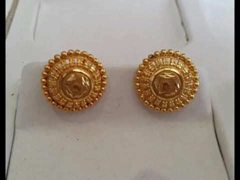 Gold Earrings Studs Latest Designs Collection