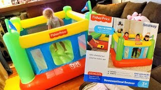 AMAZING BESTWAY BOUNCESATIONAL BOUNCER by FISHER PRICE INFLATABLE BOUNCE HOUSE review