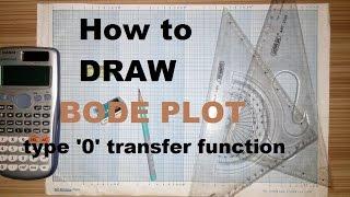 How to draw Bode Plot on semilog paper - type zero(0) system