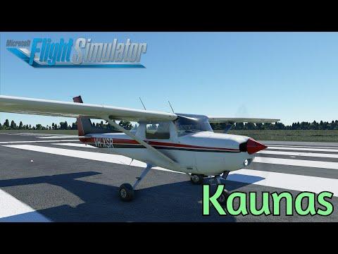 Night Kaunas | Lithuania | Cessna 152 Aerobat | EYKS-EYKS